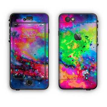 The Neon Splatter Universe Apple iPhone 6 LifeProof Nuud Case Skin Set
