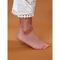 1pc Colorful Beaded Chain Anklet