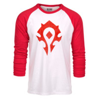 World of Warcraft Horde Heather Raglan Shirt