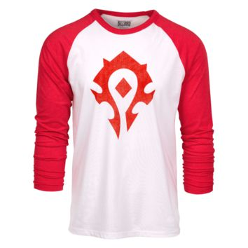 cc80ad9ed06 World of Warcraft Horde Heather Raglan Shirt
