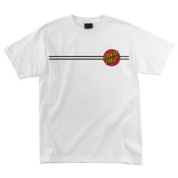 Santa Cruz Classic Dot Regular S/S - White - Mens T-Shirt