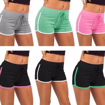 Elastic waist  shorts with stripe and drawstring ~ 7 colors!