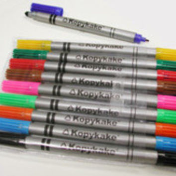 10 Kopykake Decorating Pens Edible Food Color Marker Double Sided Writing Cake Cookies Cake Pops Food Safe