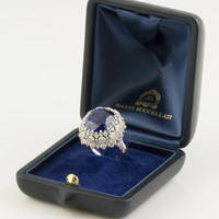BUCCELLATI Tanzanite Diamond Gold Cocktail Ring