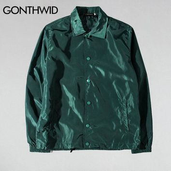 Trendy GONTHWID Purpose Tour Coaches Jackets Mens Hip Hop Solid Color Thin Coats Jacket Male Fashion Casual Windbreaker Streetwear AT_94_13