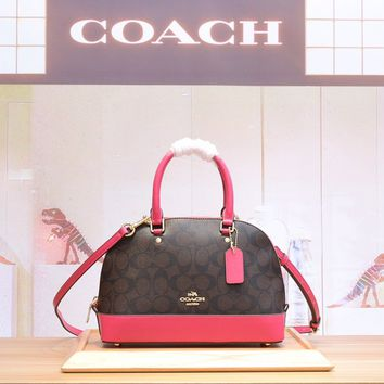 Coach Women Leather Shoulder Bag Satchel Tote Bag Handbag Shopping Leather Tote Crossbody Satchel Shou