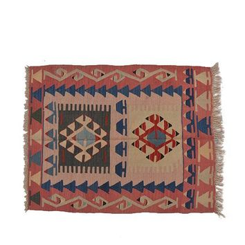 "Turkish Kilim Turkish 2' 11"" X 3' 9"" Handmade Rug"