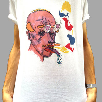 Indie Shirt, Psychedelic T-Shirt, Weird cartoon T-Shirt, Disco Shirt, Funky Shirt, Retro T-Shirt, 90s Shirt, 80s Shirt, 70s Shirt, Weird Top