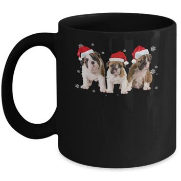 DCKIJ3 Funny Bulldogs Puppies Christmas Dog Gift Mug