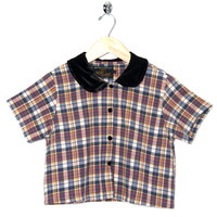 Motel Vintage Andy Blouse Full Check 0021 ONE SIZE