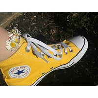 """""""Converse"""" Fashion Canvas Flats Sneakers Sport Shoes Low tops Yellow"""