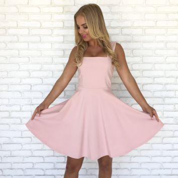 Love Letter Skater Dress in Pink
