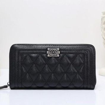 DCCK6HW Chanel' Women Purse Fashion Quilted Multifunction Long Section Zip Wallet Clutch