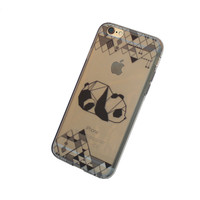 iPhone Origami Panda Case (black)