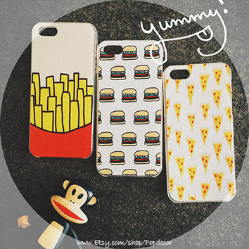 So Many Hamburgers, Designed SOFT silicon iPhone case, TPU, iPhone 5s Case, iPhone 5 Case, iPhone 4s Case, Hamburgers all over print