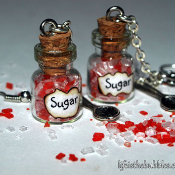Mary Poppins Magical Spoon and Sugar Dangling Earrings, by Life is the Bubbles