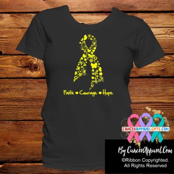 Sarcoma Awareness Faith Courage Hope Shirts