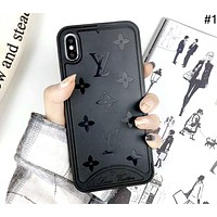 LV tide brand presbyopia embossed iphone Xs max phone case #1