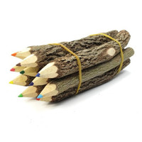 Branch & Twig Assorted Colored Pencils, 10-Pack, Approximately 5 Inches Long
