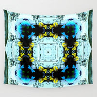 Many Fish In The Sea  Wall Tapestry by Louisa Catharine Design
