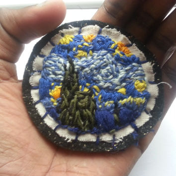 Handmade 'The Starry Night' Vincent Van Gogh Patch