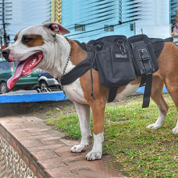 OneTigris Army Military Service Dog Vest Harness Molle Tactical Dogs Accessories Let The Dog Travel With You!