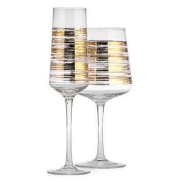 Brushstroke Stemware - Sets of 4 | Gold | Color Guide | Trends | Z Gallerie