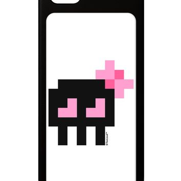 Retro 8-Bit Skull with Pink Bow iPhone 5 / 5S Grip Case  by TooLoud