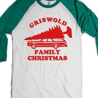 White/Evergreen T-Shirt | Christmas Vacation Shirts