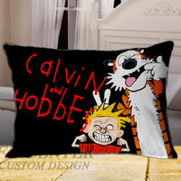New Calvin and Hobbes comic on Rectangle Pillow Cover