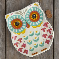 Folk  Owl  Medium  Trinket  Tray  From  Natural  Life