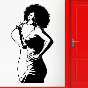 Wall Stickers Vinyl Decal Hot Sexy Girl Black Lady African Singer Unique Gift (ig2300)