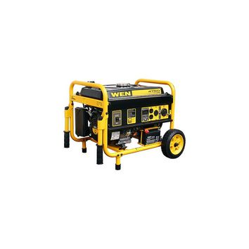 WEN 4,750 Watt Gasoline Generator with Electric Start and Wheel Kit