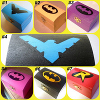 Miniature Batman Inspired Wooden Jewelry/Keepsake Boxes