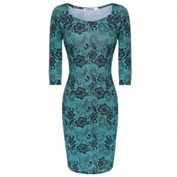 Vintage 'Wednesday Meeting' Bodycon Dress