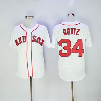 David Ortiz #34 Red Sox Baseball Jersey