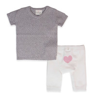 Cuddl Duds® 2-Piece Basketweave Tunic and Legging Set in Grey