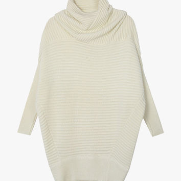 Oversized High Neck Sweater