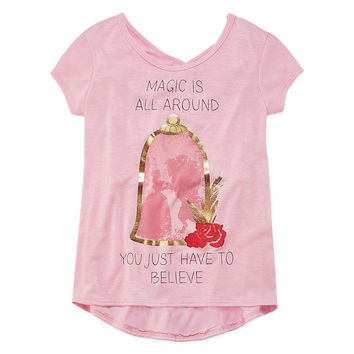 Disney Beauty and the Beast Graphic T-Shirt-Big Kid Girls - JCPenney