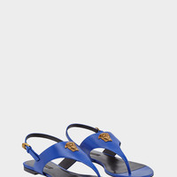 Versace Medusa Palazzo Sling Back Thongs for Women | US Online Store