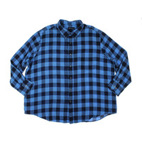 John Ashford Mens Big & Tall Flannel Collared Button-Down Shirt