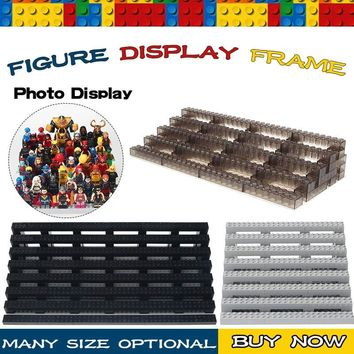 Legoing Friend Exhibition marvel Super Hero star wars Ninjagoes Block Display Case Around 100Pcs Legoing Figures Building Blocks