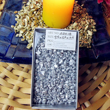 Potted ornamental gardening supplies tiny color stone fairy garden decoration silver mini gravel decoration accessories 200 g