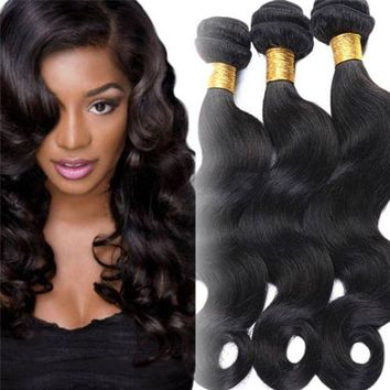 PEAP78W 2017 Human Hair Unprocessed 7A Virgin Brazilian Weave Extensions Elegant fashion wig Classics drop shipping 17oct4