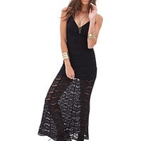 FOREVER 21 Floral Lace Maxi Dress