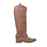 Rider Cognac Tan Knee High Boots