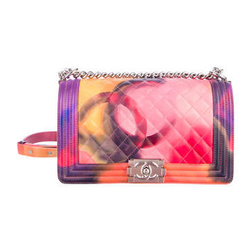 Chanel Flower Power Medium Tie Dye Boy Bag