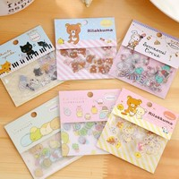 80Pcs/pack ZAKKA Japan Rilakkuma & his Circus Friends series sticker pack/students' Decoration label/stationery & gift
