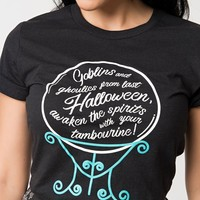Unique Vintage Black Madame Leota Crystal Ball Unisex Tee