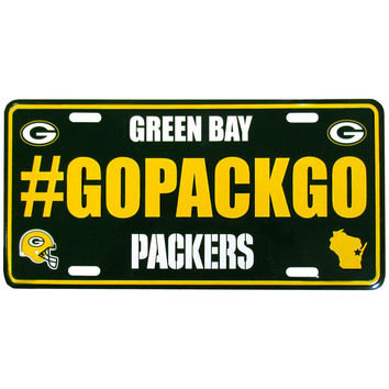 Green Bay Packers Hashtag License Plate FHLP115
